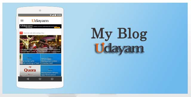Udayam, Blog about life